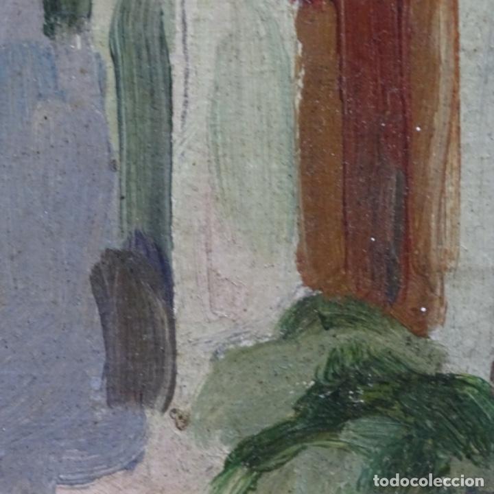 Arte: Excelente óleo sobre cartón de escuela catalana.buen trazo.principio siglo xx. - Foto 12 - 183430926