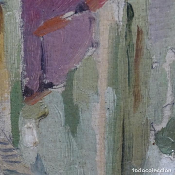 Arte: Excelente óleo sobre cartón de escuela catalana.buen trazo.principio siglo xx. - Foto 13 - 183430926
