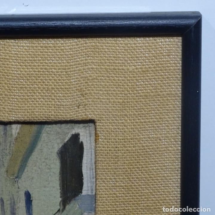 Arte: Excelente óleo sobre cartón de escuela catalana.buen trazo.principio siglo xx. - Foto 14 - 183430926