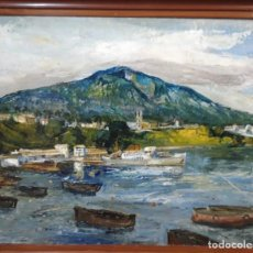 Arte: AMADEO FREIXAS VIVO - (1915-2004 )PINTOR, OLEO SOBRE TELA, // STA.ISABEL DE AFRICA/ C/M 115 X 95 CM.. Lote 183470996