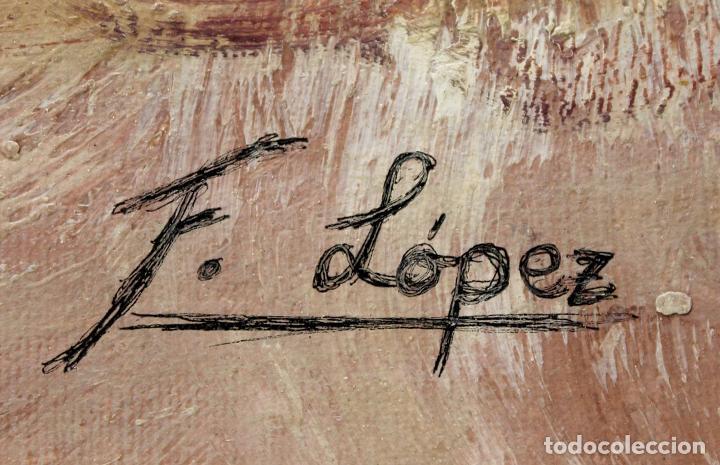 Arte: Jinetes - Escuela Holandesa - Oleo sobre lienzo - 78x68 cm - Foto 3 - 98733810