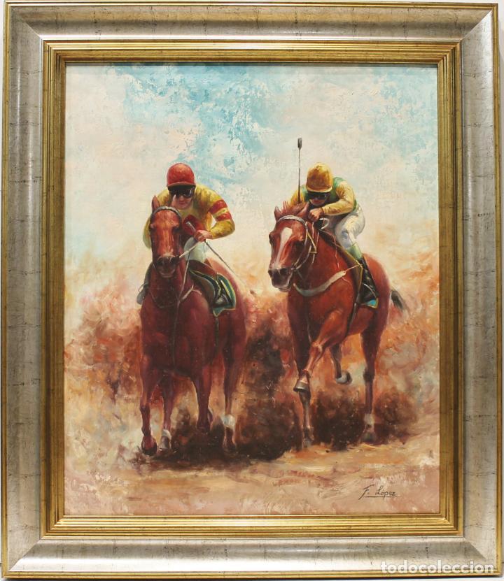 JINETES - ESCUELA HOLANDESA - OLEO SOBRE LIENZO - 78X68 CM (Arte - Pintura - Pintura al Óleo Contemporánea )