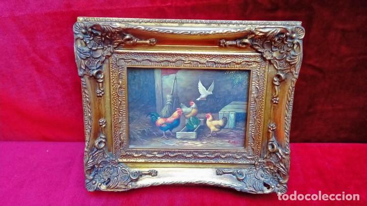 OLEO SOBRE TABLEX-E.HUNT- (Arte - Pintura - Pintura al Óleo Antigua sin fecha definida)