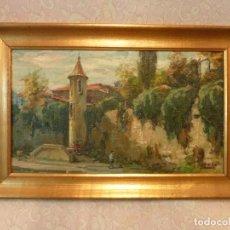 Arte: OLEO DE JACINT CONILL ORRIOLS - EL PORTALET, VIC - 46,5 X 27 CM. Lote 183505826