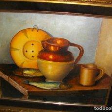 Arte: EXCELENTE BODEGON DE J. MONTES ( VALENCIA) 60 X 54 CTMS ) CON MARCO INCLUIDO. Lote 183554231