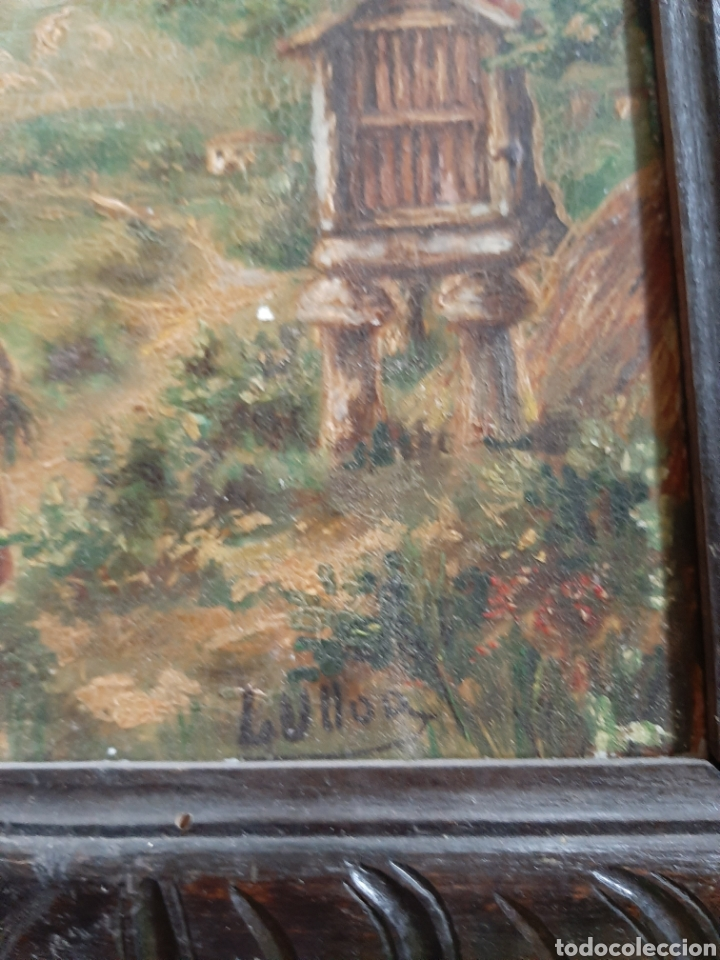 Arte: Antiguo óleo sobre azulejo motivo gallego firmado L, Ulloa - Foto 2 - 183554581