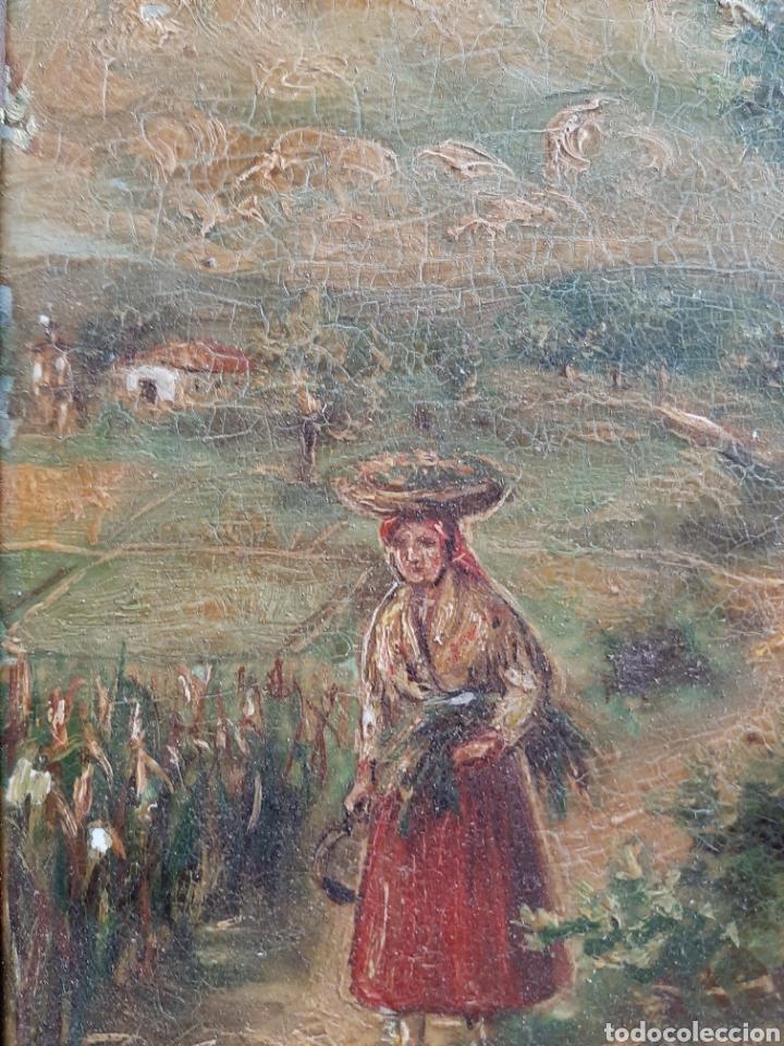 Arte: Antiguo óleo sobre azulejo motivo gallego firmado L, Ulloa - Foto 3 - 183554581