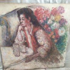 Arte: ENTRE FLORES ORIGINAL. Lote 183571263