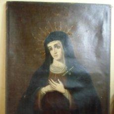 Arte: VIRGEN DOLOROSA.OLEO SOBRE LIENZO S.XVIII.. Lote 183600456