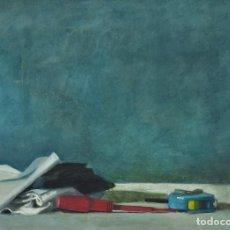 Arte: COMPOSICIÓN CON DESTORNILLADOR ROJO. PINTURA AL OLEO SOBRE CARTÓN COUCHÉ, 48X35CM, DE PEP ENCINAS. Lote 183658650