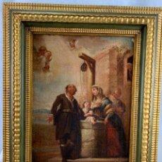Arte: ELEGANTE CUADRO- ÓLEO SOBRE TELA- REENTELADO FINALES S XVIII. Lote 183682653