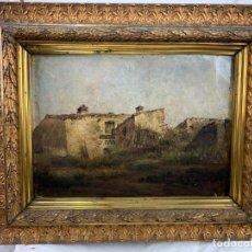 Arte: PAISAJE- MODESTO URGELL - (1839-1919) ÓLEO EN TELA ENCOLADA EN TABLA. Lote 183683422