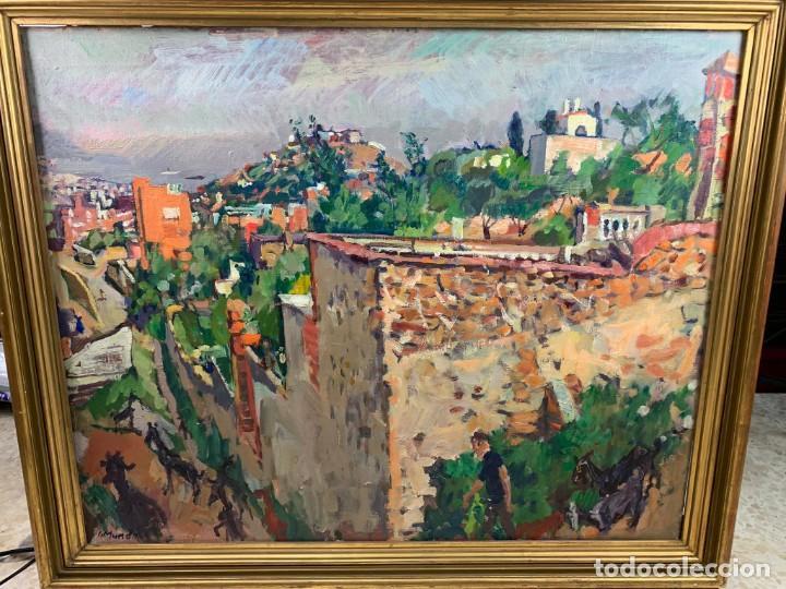 EL CARMELO - 1978 OLEO SOBRE TELA - IGNACI MUNDÓ (1918-2012)- CON MARCO 94 X 114 CM. (Arte - Pintura - Pintura al Óleo Contemporánea )