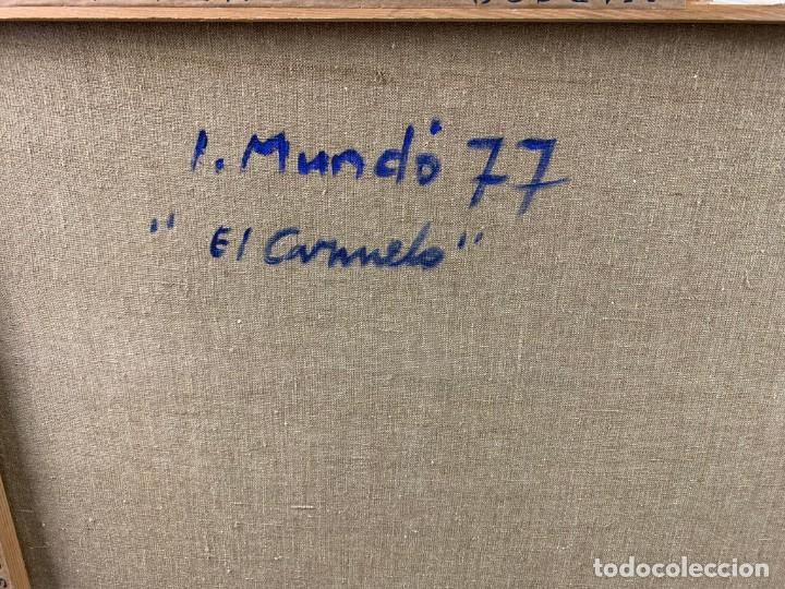 Arte: EL CARMELO - 1978 OLEO SOBRE TELA - IGNACI MUNDÓ (1918-2012)- CON MARCO 94 X 114 CM. - Foto 9 - 183687803
