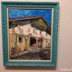 Arte: CUADRO AL OLEO CASERIO EN IURRETA. Lote 183740746