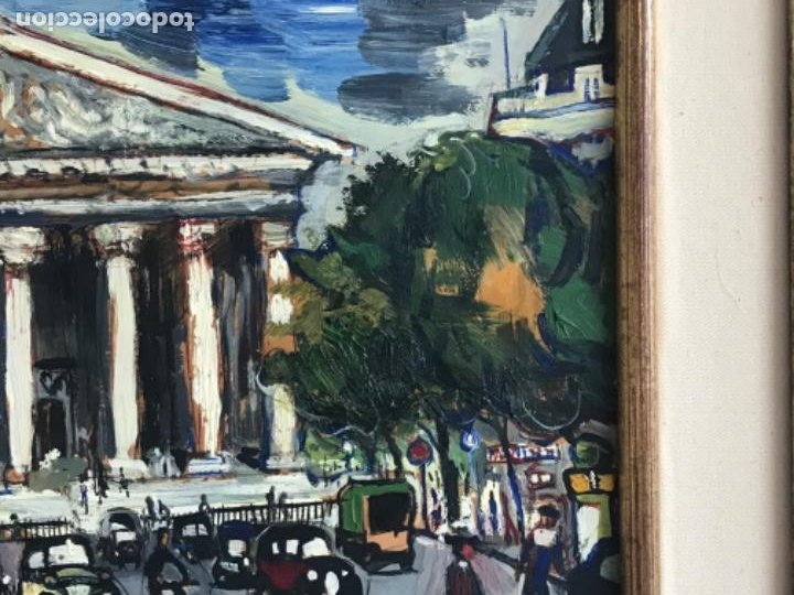 Arte: RAMON AGUILAR MORÉ OLEO SOBRE TABLA. PARIS 1960'S. - Foto 5 - 183767190