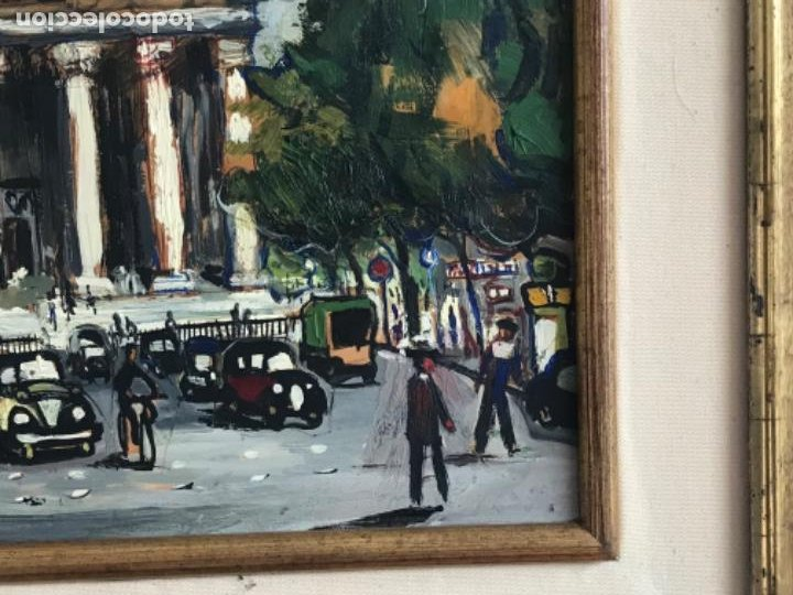 Arte: RAMON AGUILAR MORÉ OLEO SOBRE TABLA. PARIS 1960'S. - Foto 6 - 183767190