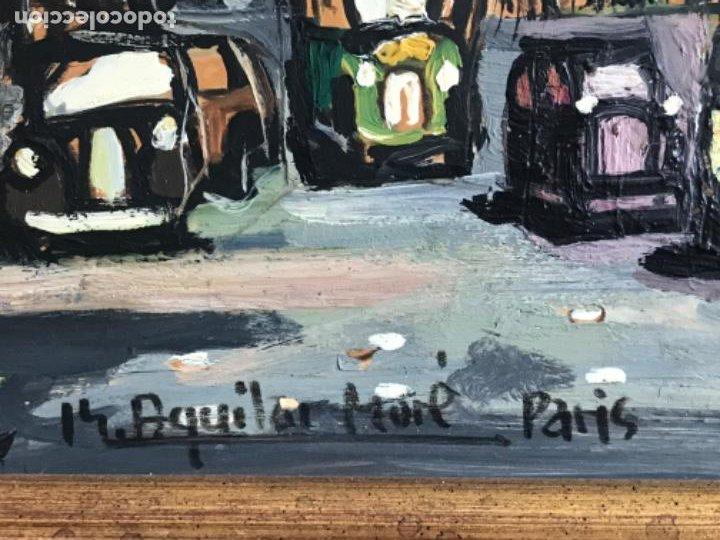 Arte: RAMON AGUILAR MORÉ OLEO SOBRE TABLA. PARIS 1960'S. - Foto 8 - 183767190