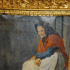 Art: PRECIOSA PINTURA COSTUMBRISTA DEDICADO Y FIRMADO POR CUÑAT. Lote 183775197