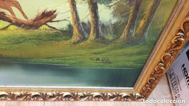 Arte: Cuadro caza a caballo oleo sobre lienzo Firmado CRUZ - Foto 5 - 210169805