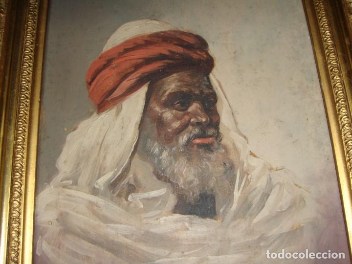 Arte: Óleo sobre tabla. Firmado. Cádiz - 1898. Marco dorado. - Foto 4 - 183798210
