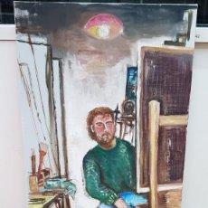 Arte: ARTISTA PINTANDO UN CUADRO. Lote 183800223