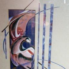 Arte: ABSTRACTO ESMALTADO Y PINTADO POR NEGRONI. Lote 183801895