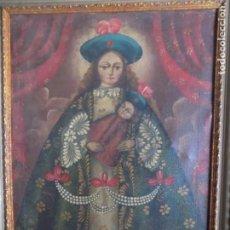 Arte: LIBRERIA GHOTICA. EXCELENTE VIRGEN DE ESCUELA COLONIAL DE FINALES DEL SIGLO XVIII. 60 X 40 CM.. Lote 183808626