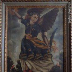 Arte: LIBRERIA GHOTICA. EXCELENTE ANGEL DE ESCUELA COLONIAL DE FINALES DEL SIGLO XVIII. 60 X 45 CM.. Lote 183808960