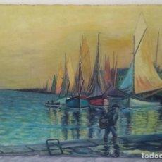 Arte: C. HELWIG (1830 - 1905) PASEO DEL LAGO DE CONSTANZA, ÓLEO SOBRE LIENZO, FIRMADO APROX. AÑOS 1860. Lote 183827617