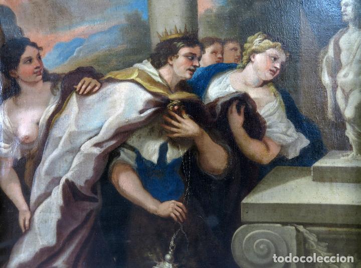 Arte: La idolatría de Salomón óleo sobre lienzo seguidor Luca Giordano escuela italiana finales siglo XVII - Foto 2 - 183829378