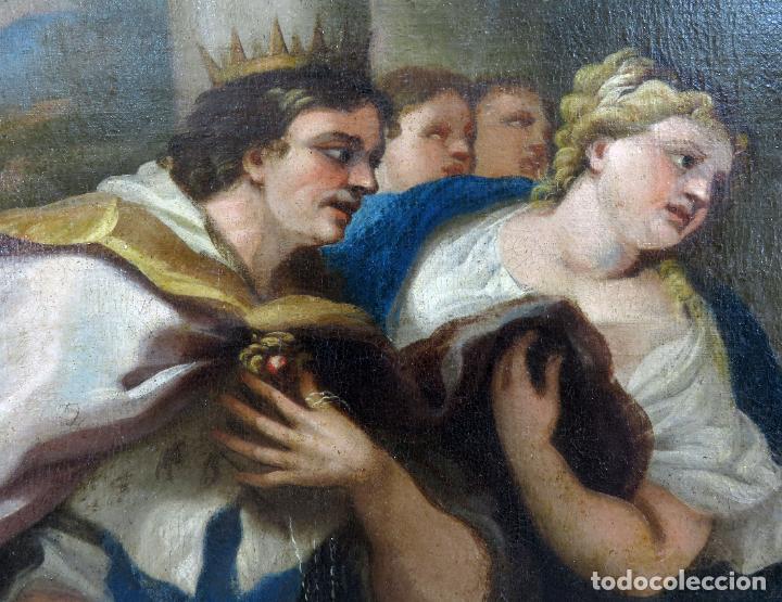 Arte: La idolatría de Salomón óleo sobre lienzo seguidor Luca Giordano escuela italiana finales siglo XVII - Foto 3 - 183829378