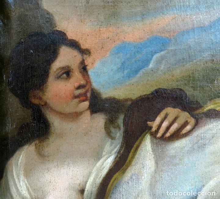 Arte: La idolatría de Salomón óleo sobre lienzo seguidor Luca Giordano escuela italiana finales siglo XVII - Foto 4 - 183829378