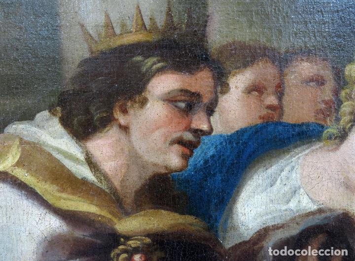 Arte: La idolatría de Salomón óleo sobre lienzo seguidor Luca Giordano escuela italiana finales siglo XVII - Foto 5 - 183829378