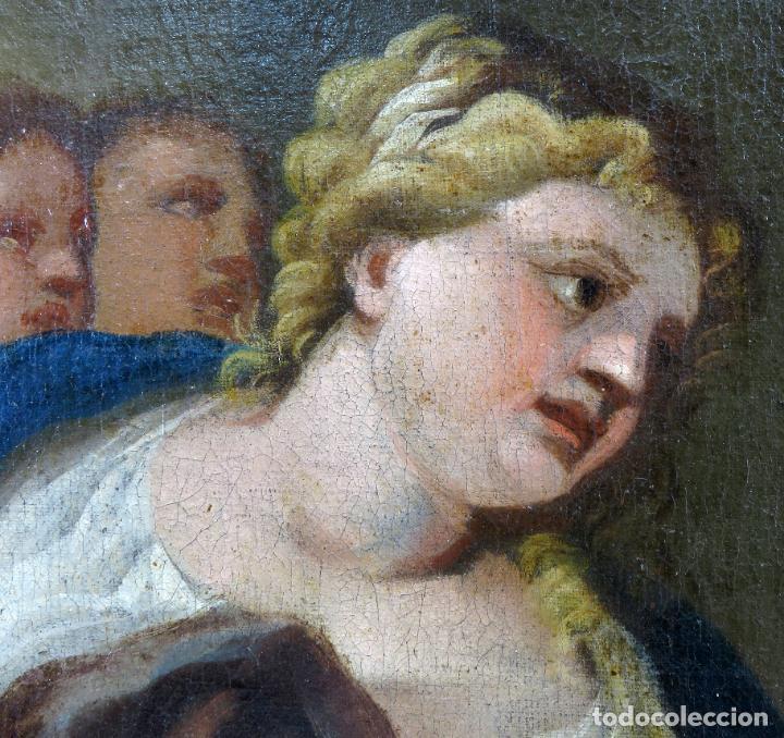 Arte: La idolatría de Salomón óleo sobre lienzo seguidor Luca Giordano escuela italiana finales siglo XVII - Foto 7 - 183829378