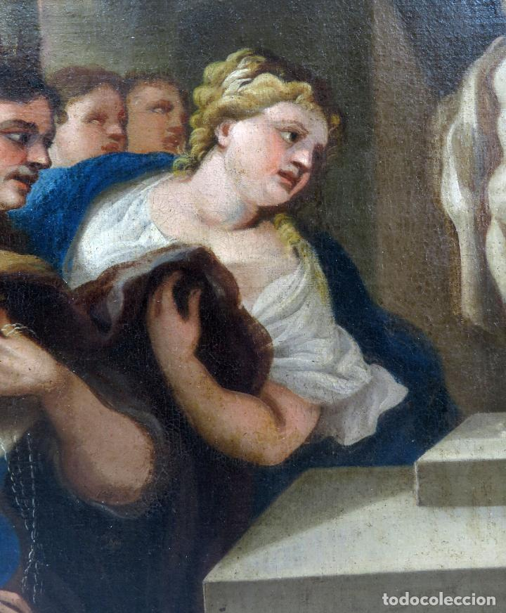 Arte: La idolatría de Salomón óleo sobre lienzo seguidor Luca Giordano escuela italiana finales siglo XVII - Foto 8 - 183829378