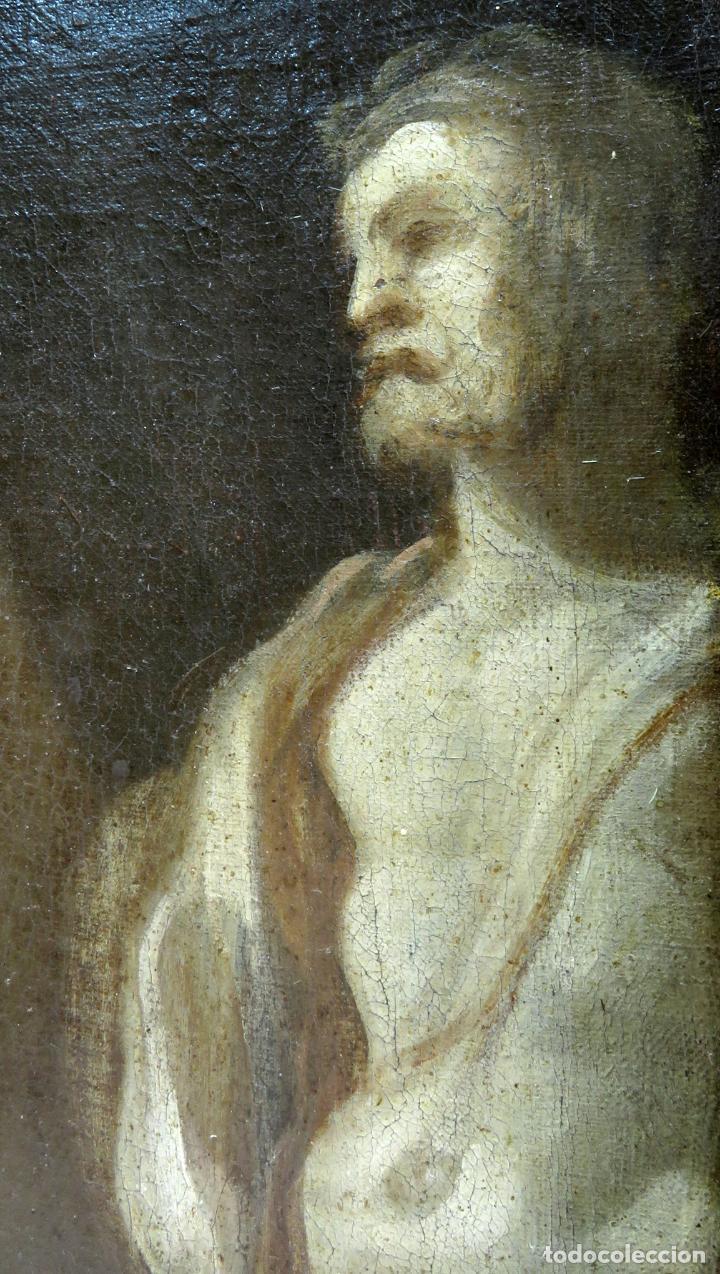 Arte: La idolatría de Salomón óleo sobre lienzo seguidor Luca Giordano escuela italiana finales siglo XVII - Foto 9 - 183829378