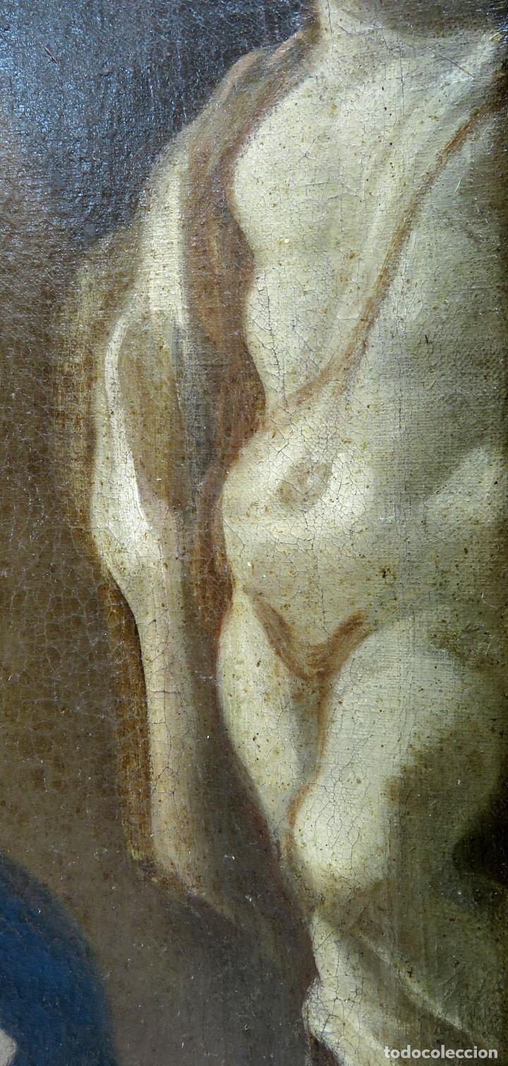 Arte: La idolatría de Salomón óleo sobre lienzo seguidor Luca Giordano escuela italiana finales siglo XVII - Foto 10 - 183829378
