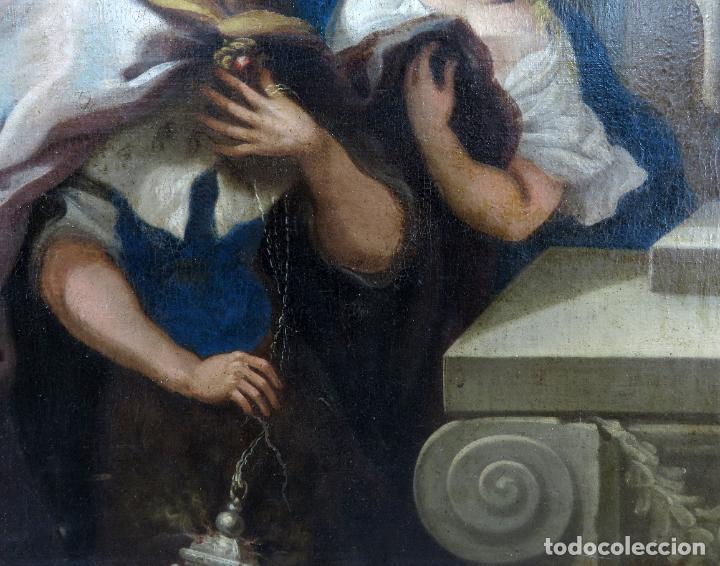 Arte: La idolatría de Salomón óleo sobre lienzo seguidor Luca Giordano escuela italiana finales siglo XVII - Foto 12 - 183829378