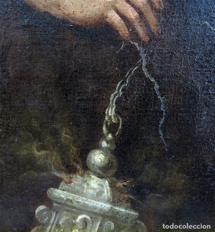 Arte: La idolatría de Salomón óleo sobre lienzo seguidor Luca Giordano escuela italiana finales siglo XVII - Foto 13 - 183829378