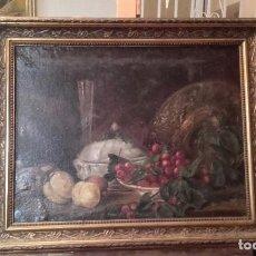 Arte: ANTIGUO BODEGÓN / ÓLEO SOBRE LIENZO. Lote 183830251