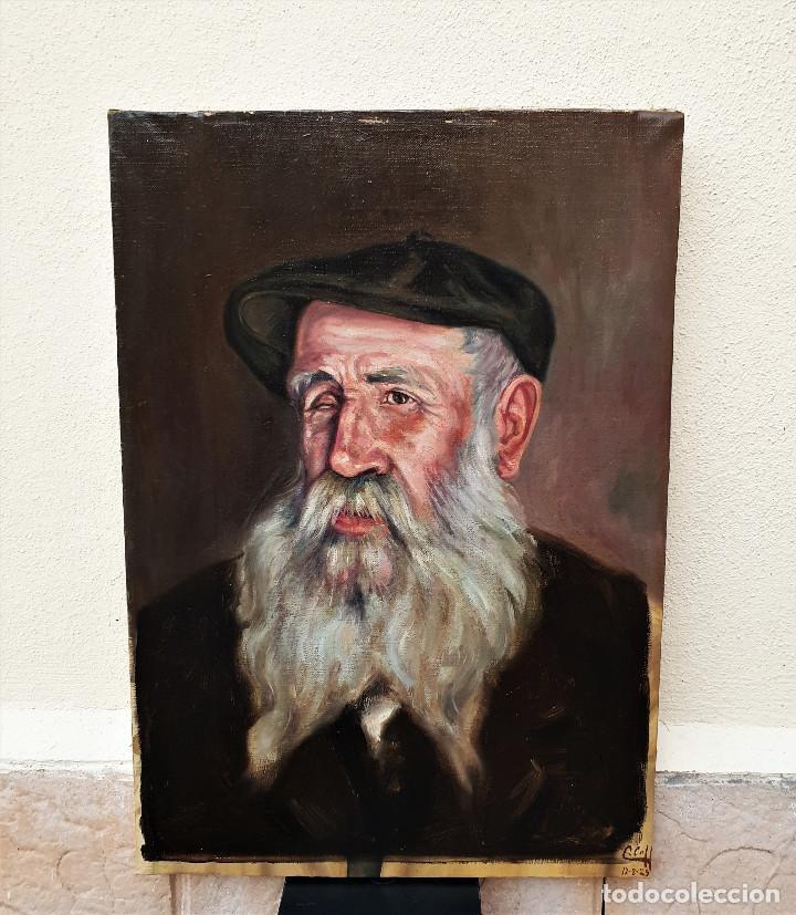 "EL SEÑOR SIMÓN, ""MATAPULGAS"". ÓLEO SOBRE LIENZO. FIRMADO: CLAUDIO COLL. 12-8-1925. (Arte - Pintura - Pintura al Óleo Moderna sin fecha definida)"