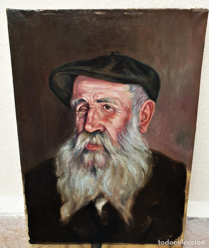 "Arte: El Señor Simón, ""Matapulgas"". Óleo sobre lienzo. Firmado: Claudio Coll. 12-8-1925. - Foto 3 - 183830892"