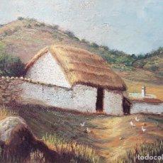 Arte: ANÓNIMO - PAISAJE RURAL, POSIBLEMENTE CASTILLA. ÓLEO SOBRE PANEL.. Lote 183832591