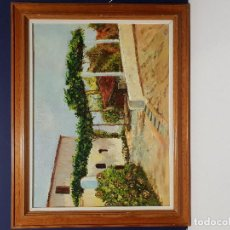 Arte: CASA DE PUEBLO. ÓLEO SOBRE LIENZO.. Lote 183832976