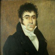 Arte: RETRATO DE CABALLERO. ÓLEO SOBRE LIENZO. SEGUIDOR DE GOYA. ESPAÑA S. XVIII. Lote 183856777