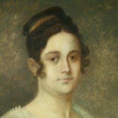 Arte: RETRATO DE DAMA CON ESCUDO COLONIAL. ÓLEO SOBRE LIENZO. SEGUIDOR DE GOYA. ESPAÑA S. XVIII. Lote 183860323