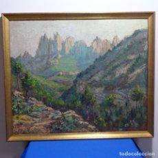 Arte: EXCELENTE ÓLEO SOBRE TABLEX.MONTSERRAT.FIRMADO R.BARO.. Lote 183867713