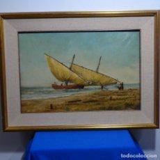 Arte: OLEO FIRMADO VIDALLER.ESCUELA CATALANA.. Lote 183867841