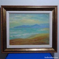 Arte: OLEO SOBRE TABLEX DE ÁNGEL BERTRAN MONTSERRAT(CERVELLÓ 1922-BCN 1995)PLAYA RINCÓN TETUAN(AFRICA).. Lote 183868008